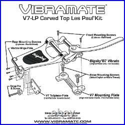 ALL U NEED! Bigsby B7 & Vibramate V7 adapter BOLT-ON KIT 4 Gibson/Epi Les Paul