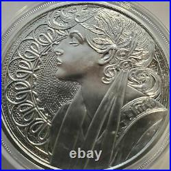 ALPHONSE MUCHA COLLECTION (6) 1 oz. 999 Silver Proof set ALL 6 COINS NEW with COA