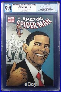 AMAZING SPIDER-MAN #583 ALL 5 Obama Variants PGX 9.8 NM/MT Near Mint/Mint +CGC