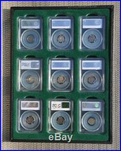 A nice group of nine Early Bust half dimes all PCGS graded XF45 and five (5) are