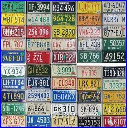 All 50 United States License Plates VINTAGE OLDER SET Premium Set