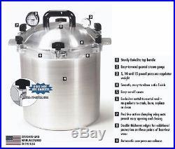 All American 921 21.5 Qt Heavy Cast Aluminum Pressure Cooker / Canner NEW