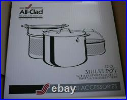 All-Clad 12 Qt Multi Pot With Perforated Steel Pasta and Steamer Insert