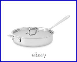 All-Clad 4403 Stainless Steel Tri-Ply Bonded 3-Quart Saute Pan with lid