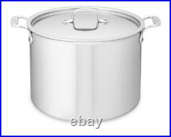 All-Clad 4512 Stainless Steel Tri-Ply/D3 Bonded 12-qt Stockpot with Lid