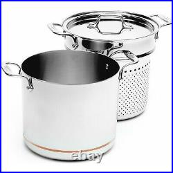 All-Clad 7qt Copper Core 5-Ply Bonded Pasta Pentola Stock Pot, 6807 New in Box
