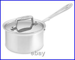 All-Clad BD55201.5 D5 Brushed 18/10 SS 5-Ply Bonded 1.5-qt sauce Pan with lid