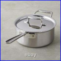 All-Clad BD55203 D5 Brushed 18/10 SS 5-Ply Bonded 3-qt sauce Pan with Lid