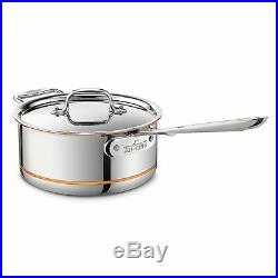 All-Clad Copper Core 3-Quart Sauce Pan with Lid 6203 SS NEW IN BOX