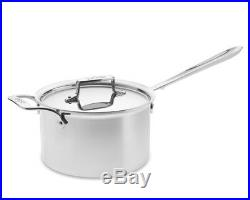 All-Clad D55204 D5 Polished Stainless Steel 5-Ply 4-qt sauce Pan withLid