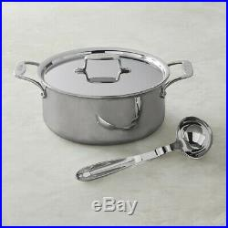 All-Clad D55506 D5 Polished 5-Ply 6-qt Ultimate Soup Pot with ladle