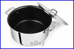 All-Clad D55508NS D5 Polished Non-Stick 5-Ply Dishwasher Safe 8-qt Stock Pot
