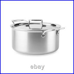All-Clad D55508 D5 Polished 5-Ply Dishwasher Safe 8-qt Stock Pot with lid