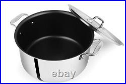 All-Clad D55508 D5 Polished Non-stick 5-Ply 8-qt Stock Pot with Lid
