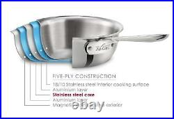 All-Clad D5 Brushed Stainless Steel 10 PC Cookware Set Brand New SEALED
