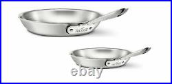 All-Clad D5 Polished 5-Ply 8 and 10 inch Fry pan Set