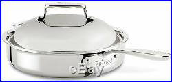 All-Clad SD754036 D7 SS 7-Ply Bonded Construction 3-Qt Roaster Saute Pan withLid