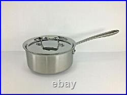 All-Clad TK 5-Ply Brushed Copper Core 3-qt sauce pan with Lid