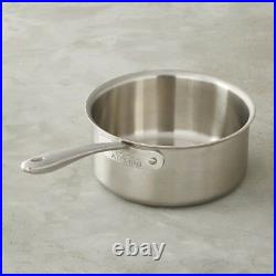 All-Clad TK 5-Ply Copper Core, 4-qt sauce pan with All-clad TK 9 inch lid