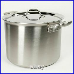 All-Clad TK Brushed Stainless-Steel 12 qt Stock Pot with All-clad Lid