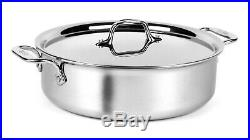 All-Clad Tri-ply Stainless Steel 5-quart Sear & Roast Pan with Lid