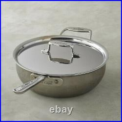 All-Clad d5 5-ply Stainless-Steel 6-Qt Essential Pan Pan With Lid