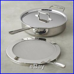 All-Clad d5 5-ply Stainless-Steel Deep 4-Qt Sauté Pan With Splatter Screen