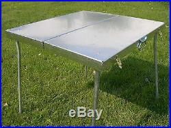 All Metal Deluxe Folding Camp Table Tent Camping Riley Stoves