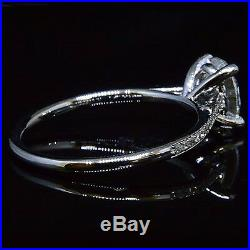 All Natural 1.16 Ct Oval Brilliant Cut Diamond Engagement Ring G, VS2 GIA 14K WG
