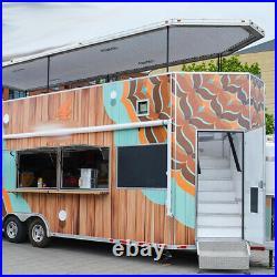 All New Kitchen Equipment Custom Built Food Truck Concession Trailer