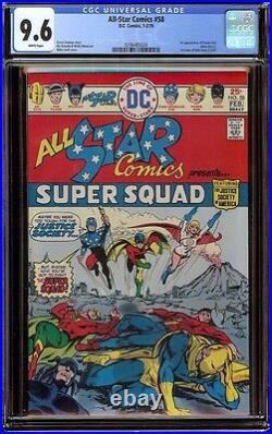 All Star Comics # 58 CGC 9.6 White (DC, 1976) 1st full appearance Powergirl