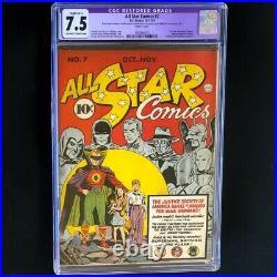 All Star Comics #7 (1941) CGC 7.5 Restored 1st Superman & Batman Team-Up