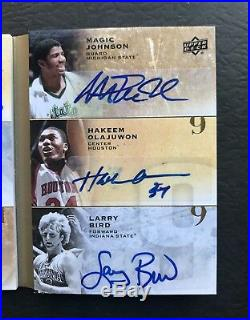 All-Time 9 Signatures Michael Jordan/Bird/Magic/West/Olajuwon/Russell Auto 1/1
