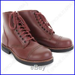 American Service Shoes Leather Low Boot US Army WW2 Repro 1939 Brown All Sizes
