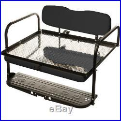 Black Club Car DS (1982-UP) Golf Cart All American Rear Flip Seat Kit