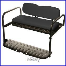 Black EZGO TXT (1994-up) Golf Cart All American Rear Flip Back Seat Kiting