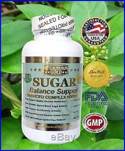 Blood Sugar Balance Support Advanced Glucose Defense Now All Natural 1600mg USA