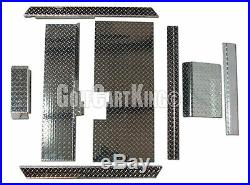 Club Car DS 1982-UP Golf Cart ALL AMERICAN Diamond Plate Accessory Kit with Floor