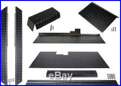 Club Car DS Golf Cart ALL AMERICAN Black Diamond Plate Accessories Kit withFloor