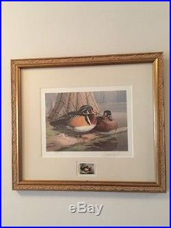 Collection of 6 Framed Duck Stamp Prints & 3 Unframed Prints (all with stamps)