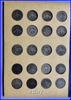 Complete Barber Quarter Collection 1892 1916 all Dates+Mints 71 Coins Set 25c