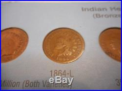 Complete Set Indian Head Cents Including All Key Dates! Ending Soon! MAKE OFFER