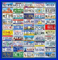 Complete Set Of USA License Plates From All 50 States (craft Condition)