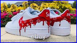 Custom air force 1 supreme drip(all Sizes Available)