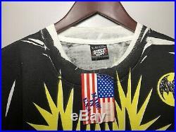 Deadstock 1988 Vintage 80s Batman T-Shirt DC Comics All Over Print Screen Stars