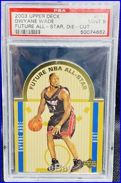 Dwyane Wade 2003-04 Upper Deck Rookie Future All Star Die Cut PSA 9 LOW POP
