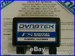 Dynatek Dyna FS Black ECU CDI Ignition Box Kawasaki Brute Force 650 650i All
