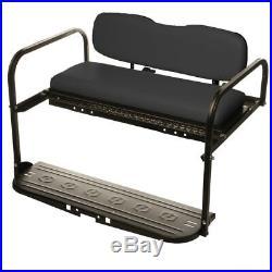 EZGO TXT (1994-up) Golf Cart All American Rear Flip Back Seat Kit Black