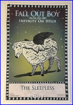 Fall Out Boy RARE VINTAGE 2007 PROMO ONLY POSTER SET OF ALL 5 Infinity On High