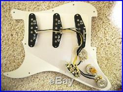 Fender Loaded Strat Pickguard Eric Johnson Sig. Pickups All Aged Cream USA +Gift